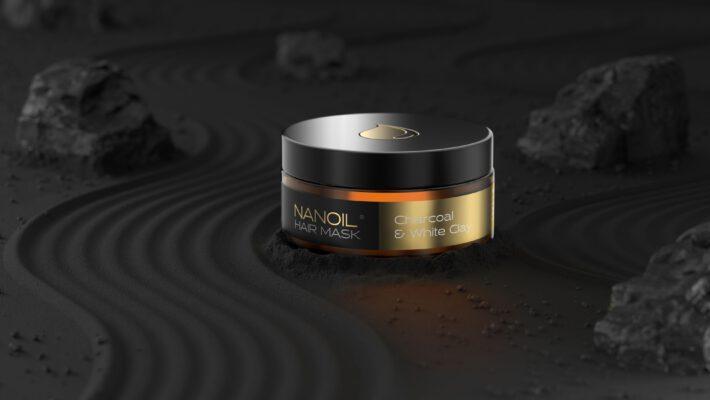 oczyszczająca maska na włosy nanoil z węglem